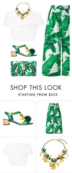 """""""Banana Leaf-Print"""" by junglover ❤ liked on Polyvore featuring Dolce&Gabbana and Delpozo"""