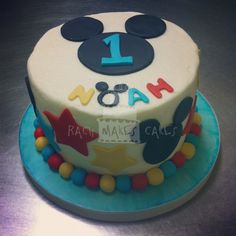 Smash Cake for a Mickey Mouse Clubhouse Party -- 1st Birthday Party.