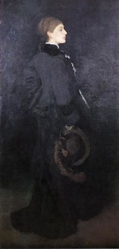 """artist-whistler: """"Arrangement in Brown and Black. Portrait of Miss Rosa Corder via James McNeill Whistler Size: cm Medium: oil, canvas"""" French Paintings, European Paintings, James Abbott Mcneill Whistler, Painting People, Oil Painting Reproductions, Vintage Artwork, American Artists, A4 Poster, Art Images"""