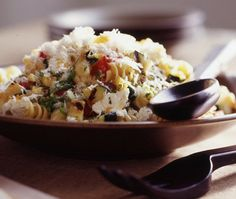 Photo Pasta Under Sizzling Garlic Recipe Cheese Rotini