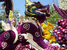 Giant floral float at the Chiang Mai Flower Festival in Tailand.