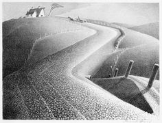 Grant Wood - March (lithograph)