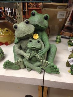 Just us 3! My friend would love this frog figurine! :D
