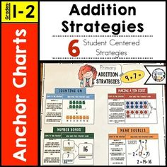 Addition Strategies Anchor ChartLooking for an anchor chart to support your student's understanding of addition strategies?  Check out this product. Included you will find 6 different strategies and 1 quick reference guide for parents and/or students.*****************************************************************************If You Like This Product, You will Also Enjoy:Place Value Explorer Game: Numbers 0 - 99.Comparing 2 Digit Numbers.1st Grade Math Homework…