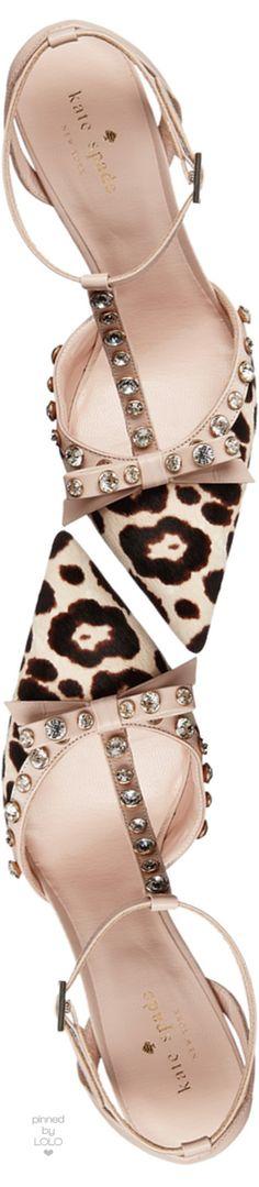 kate spade new york lydia studded calf hair pump, blush/brown leopard | LOLO❤︎