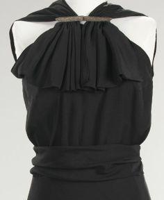 Evening gown, bodice detail, Vionnet 1936