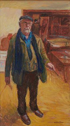 The late William Bowyer RA's LAST SELF PORTRAIT at the RA Summer Exhibition 2015