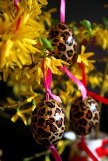 Rockabilly Leopard Easter Egg