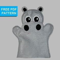 Hippo Felt Hand Puppet Pattern by TusPuppetLady - Craftsy Looking for your next project? You're going to love Hippo Felt Hand Puppet Pattern by designer TusPuppetLady. Felt Puppets, Puppets For Kids, Felt Finger Puppets, Hand Puppets, Felt Diy, Felt Crafts, Hippo Crafts, Finger Puppet Patterns, Operation Christmas Child
