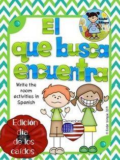 Dia de los caidos, write the room activity