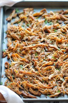 Slow Cooker Pork Carnitas - The easiest carnitas you will ever make in the crockpot, cooked low and slow for the most amazing fall-apart tender goodness!