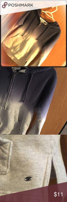 AE ombré dip-dye Zip Up hoodie Size XS Blues into Light Gray Full Zip Up Hoodie.  American Eagle Outfitters American Eagle Outfitters Tops Sweatshirts & Hoodies