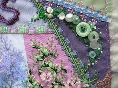 I ❤ crazy quilting . . . Sophia's revised button cluster by Marty52