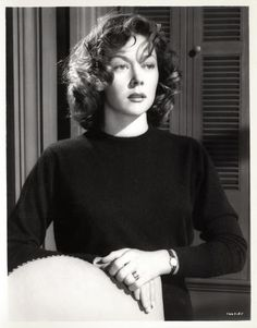 Gloria Grahame in a cashmere sweater...