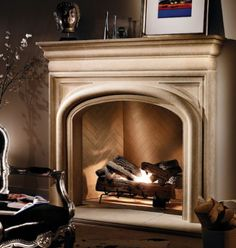 tuscan style fireplace surround | 20 Fireplace Mantels that Create Inspired Fireplace Designs