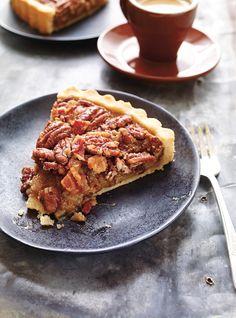 Recette de Ricardo de tarte aux pacanes, à l'érable et au bacon