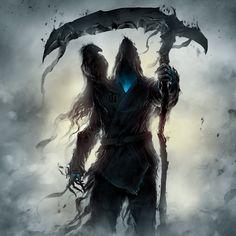 Male Op Reaper Reader x Highschool Dxd Harem {Completed) - Part 2 - Gothic Fantasy Art, Fantasy Artwork, Dark Creatures, Fantasy Creatures, Dark Souls Art, Dark Art, Fantasy Character Design, Character Art, Grim Reaper Art