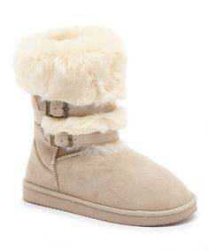 Look at this Serene Comfort Beige Janie Boot on #zulily today!