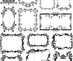 Vintage decorative frames vector