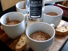 Mocha Mousse with a hint of Grappa Silly Games, Mocha, Baking Recipes, Shake, Mousse, Stuffed Mushrooms, Wordpress, Dinner, Tableware