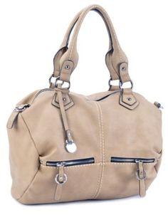 LSQ00221BG Beige Deyce 'Anna' Quality PU Close-Out High Quality Women/Girl Fashion Designer Work School Office Lady Student Handbag Shoulder Bag Purse Totes Satchel Clutches Hobos $55.00