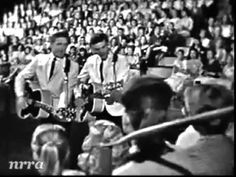 """The Everly Brothers """"Cathy's Clown""""  - from the Beach-nut Show - July 09, 1960. I was 'insane' over this song, played the keys chroncally and belting out the song in any key  I landed in - did not matter.  when not playing and singing myself - I had it playing on the 45 - not sure why I was so goners but I sure was!"""