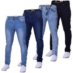 Mens Island Trading Skinny Stretch Slim Fit  Stretchable Denim Jeans Trousers