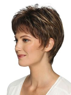 Cheri Synthetic Wig by Estetica Short Hairstyles Over 50, Haircuts For Fine Hair, Wig Hairstyles, Wig Styles, Short Hair Styles, Gabor Wigs, Pixie Cut Wig, Short Pixie, Short Hair Wigs