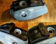 BMW r45 r65 Leder Gürtel und Dokumente Tankhalter. Cafe Racer Scrambler Special