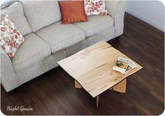 Natural Birch 30x30 Coffee Table  Primitive Ply by RightGrain, $285.00