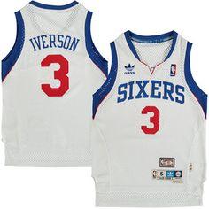 Youth Philadelphia 76ers Allen Iverson adidas White Hardwood Classics Soul Jersey
