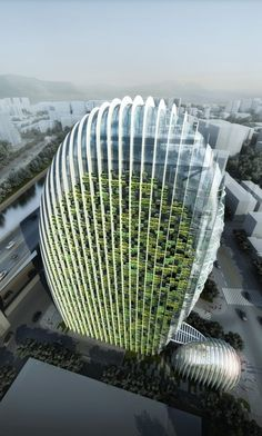 World of Architecture: Impressive Modern Office Tower by Aedas | #worldofarchi
