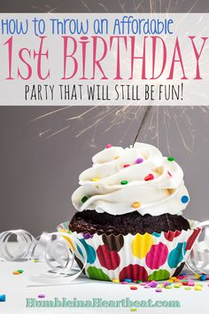 5 Tips for Throwing an Affordable First Birthday Party Diy 1st Birthday Party, Carnival Birthday Parties, Girl First Birthday, It's Your Birthday, Birthday Ideas, Happy Birthday, Cheap Party Decorations, Kids Party Themes, Party Ideas