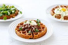 Breakfast for Dinner: Savory Cornmeal Waffles