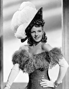 1945, costum, rita hayworth, retro hair, movi star