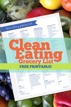 Fresh Paperie Studios | Weddings | Printables | Graphic Design: Free Printable Grocery Shopping List - Clean Eating