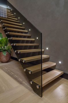 Modern Staircase Design Ideas - Stairways are so typical that you do not provide a second thought. Check out best 10 examples of modern staircase that are as sensational as they are . Home Stairs Design, Railing Design, Interior Stairs, House Design, Villa Design, Stair Design, Stairs Light Design, Glass Stairs Design, Staircase Design Modern