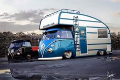 that is one sick camper ◉ pinned by  http://www.waterfront-properties.com