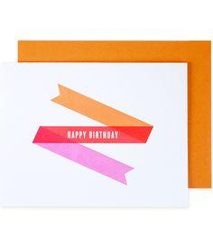 Ribbon birthday card | Pei Design.