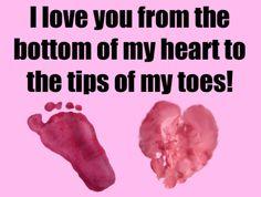 Handprint & Footprint Valentine Preschool Art Project