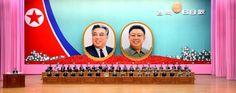 영광스러운 우리 조국 조선민주주의인민공화국창건 68돐경축 중앙보고대회 진행