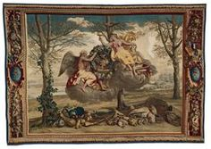 """@ Art Institute of Chicago — After a design by Charles Le Brun (French, 1619–1690). Woven by Étienne Le Blond (French, 1652–1727) and Jean de La Croix (French, 1628-1712)  France, Paris. """"Winter, from The Seasons"""" 1700/20"""