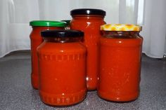 Ketchup, Mason Jars, Pizza, Stuffed Peppers, Canning, Glass, Food, Meat, Red Peppers
