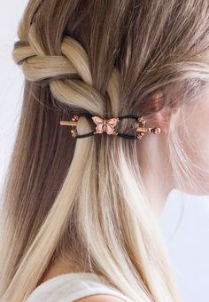 An antiqued copper butterfly has fluttered into the new limited release line at Lilla Rose! Use it to beautifully secure a cute side braid, or a simple ponytail. Braided Bun Hairstyles, Pretty Hairstyles, Braided Buns, Messy Buns, Updo Hairstyle, Prom Hairstyles, Hairstyle Ideas, Cute Side Braids, Bridesmaid Hair Side