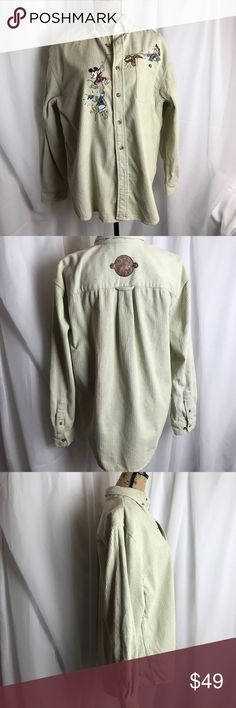 105a28a4f01b50 Vintage Disney Store Embroidered Corduroy Shirt EVC. Vintage Disney Store  Corduroy Shirt. Very oversized