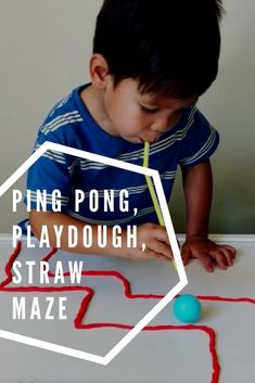 911 crafts for toddlers This Ping Pong Playdough Straw Maze is an excellent oral motor, fine motor and building activity perfect for kids of all ages! Straw Activities, Teamwork Activities, Educational Activities For Toddlers, Science For Kids, Therapy Activities, Kids Learning, Therapy Games, Learning Games, Therapy Ideas