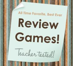 Review games for any content area