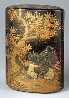 Inro (container for a seal), 5 sectionsTaira no Koremochi Fighting a…