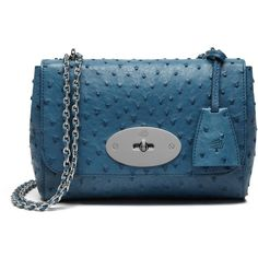Mulberry Lily (€2.775) ❤ liked on Polyvore featuring bags, handbags, steel blue, woven leather bag, evening hand bags, chain strap handbag, lily handbags and blue bag