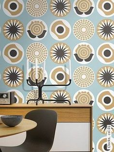 Clocks Wallpaper a retro wallpaper suitable for use as a living room wallpaper, dining room wallpaper, office wallpaper, anywhere wallpaper! Clock Wallpaper, Funky Wallpaper, Dining Room Wallpaper, Office Wallpaper, Modern Wallpaper, Designer Wallpaper, Retro Tapet, Retro Interior Design, Retro Room